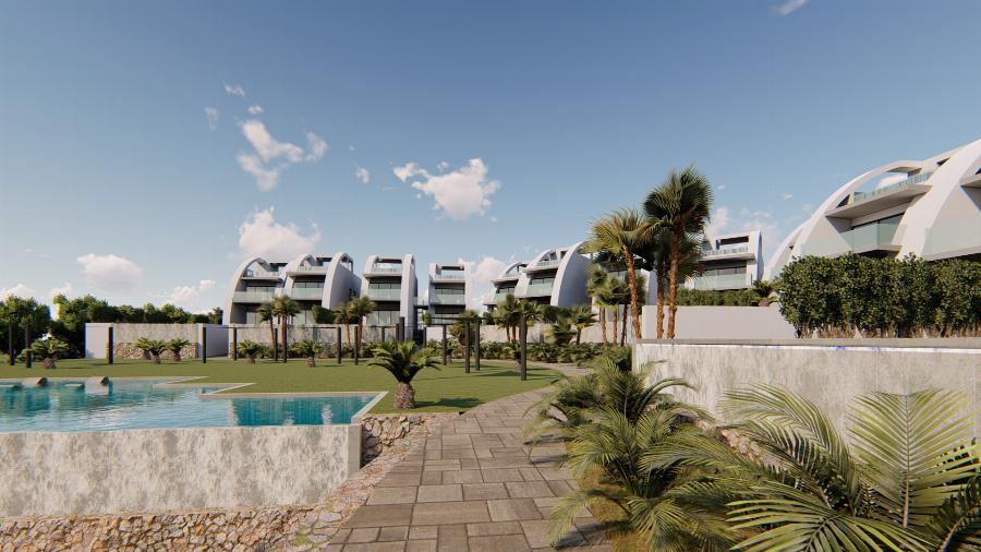 Luxury 2 bedroom garden apartments with sea view, private pool and communal wellness facilities Ref. SPA1619