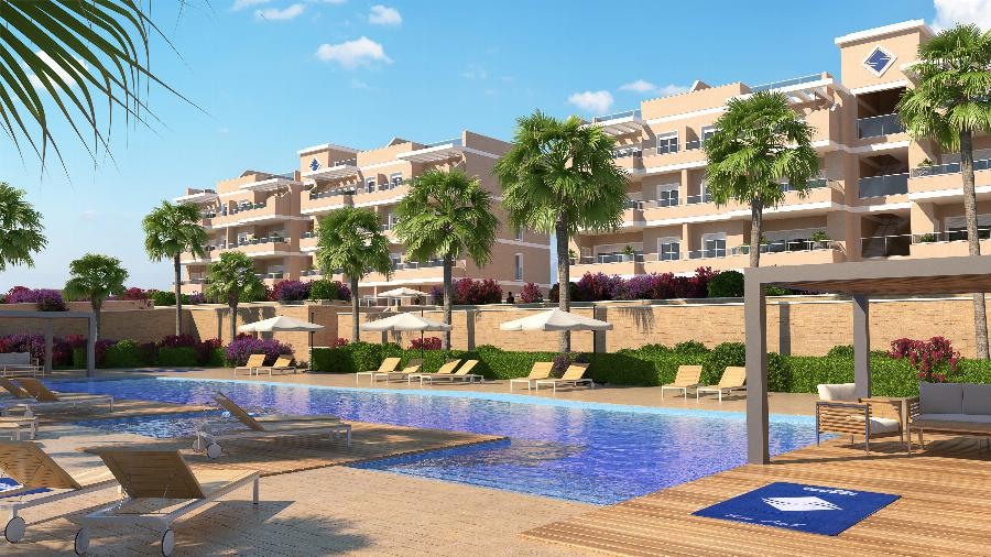 Beautifully finished 3 bedroom apartments close to the luxury area of the seaside resort of Cabo Roig on the Costa Blanca Ref. SPA1655