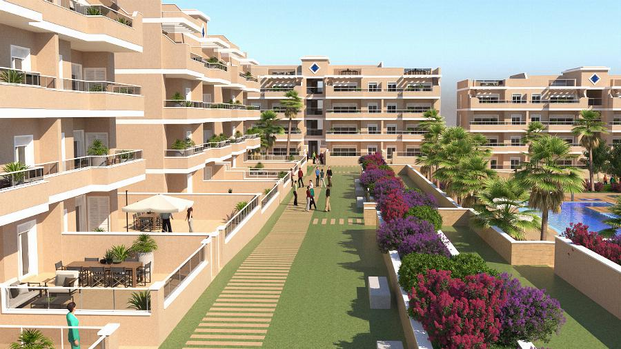 Beautifully finished garden apartments close to the luxury area of the seaside resort of Cabo Roig on the Costa Blanca Ref. SPA1653