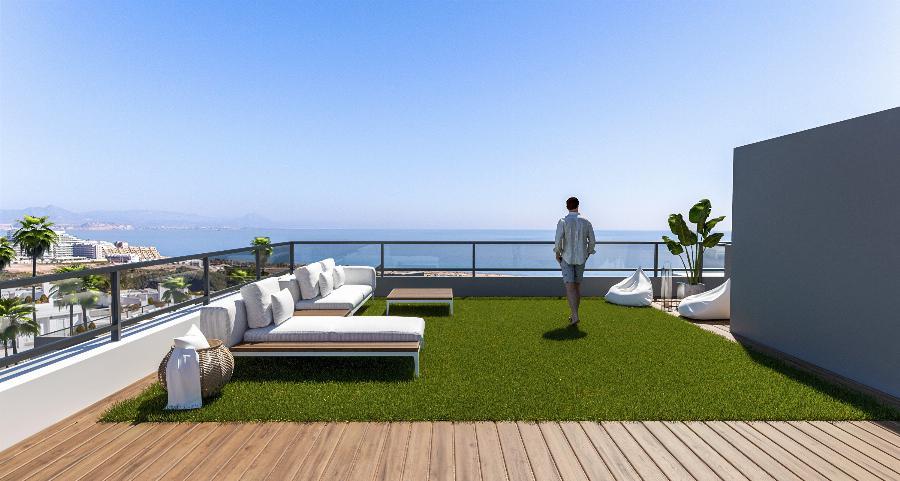 Contemporary design 2 bedroom penthouses at Gran Alacant near the Mediterranean Sea Ref. SPA1659