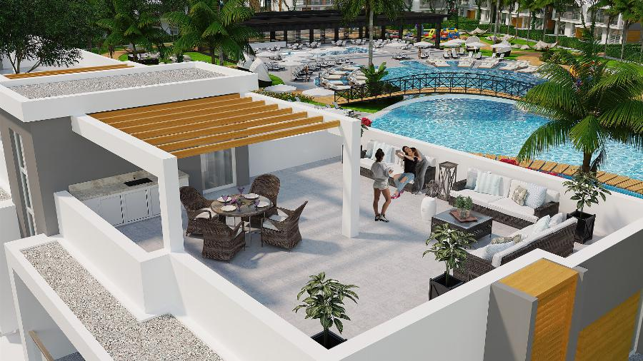 2 Bedroom Apartment with Roof Terrace in Bogaz Fishing Village Ref. NC7832