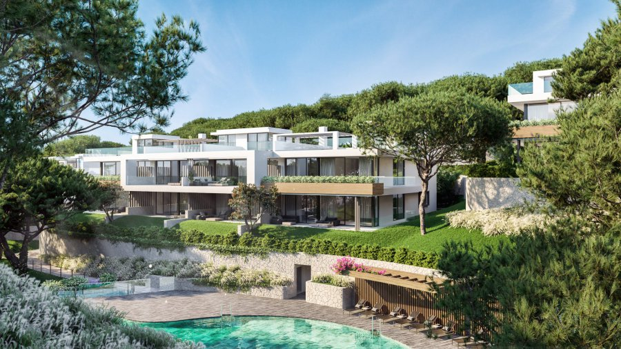 Luxury residential 2 bedroom ground floor apartments and penthouses surrounded by native vegetations and design pools with SEA views in Cabopino, Marbella. Ref. SPA1702