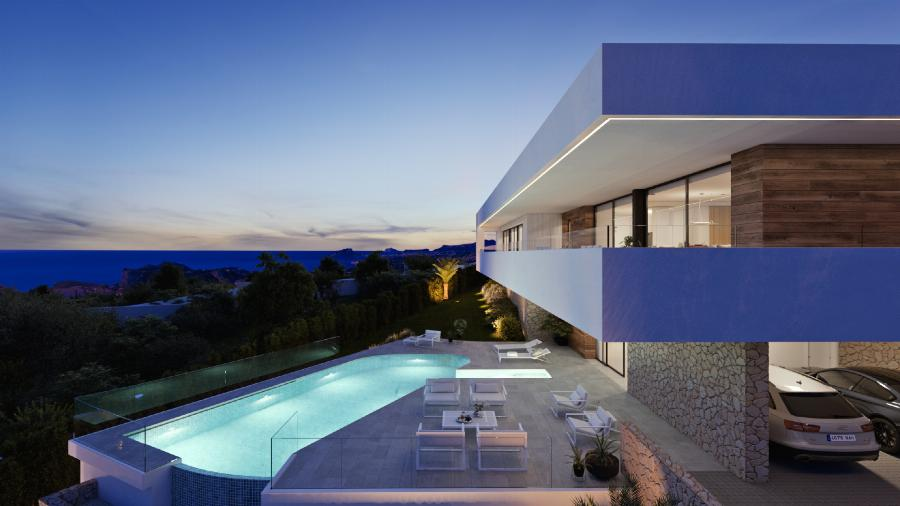 We bring Ibiza to Moraira with this Luxury modern villas with option to extra studio for guests, at the Cumbre del Sol urbanization an exclusive destination to live or enjoy the holidays. Ref. SPA1684