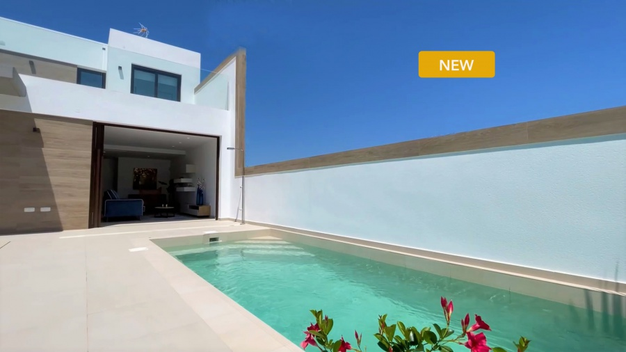 Key-ready Villas with private pool in the new popular residential area of Benijofar with all facilities near the Mediterranean sea Ref. SPA1691