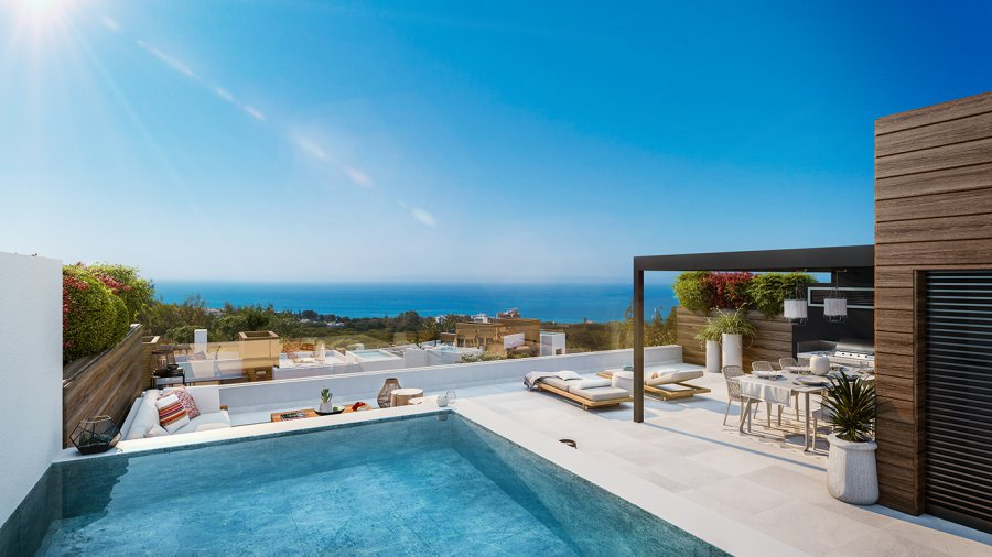Your new first floor 3 bedroom penthouse with solarium and optional plunge infinity pool in Marbella, with luxuries of a resort and the best common areas, integrated in an exceptional natural environment near the Mediterranean Sea. Ref. SPA1707