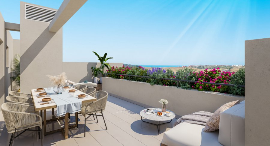 Penthouse with 2 bedrooms with private Solarium at an exclusive residential development in Estepona, Costa del Sol. Ref. SPA1712